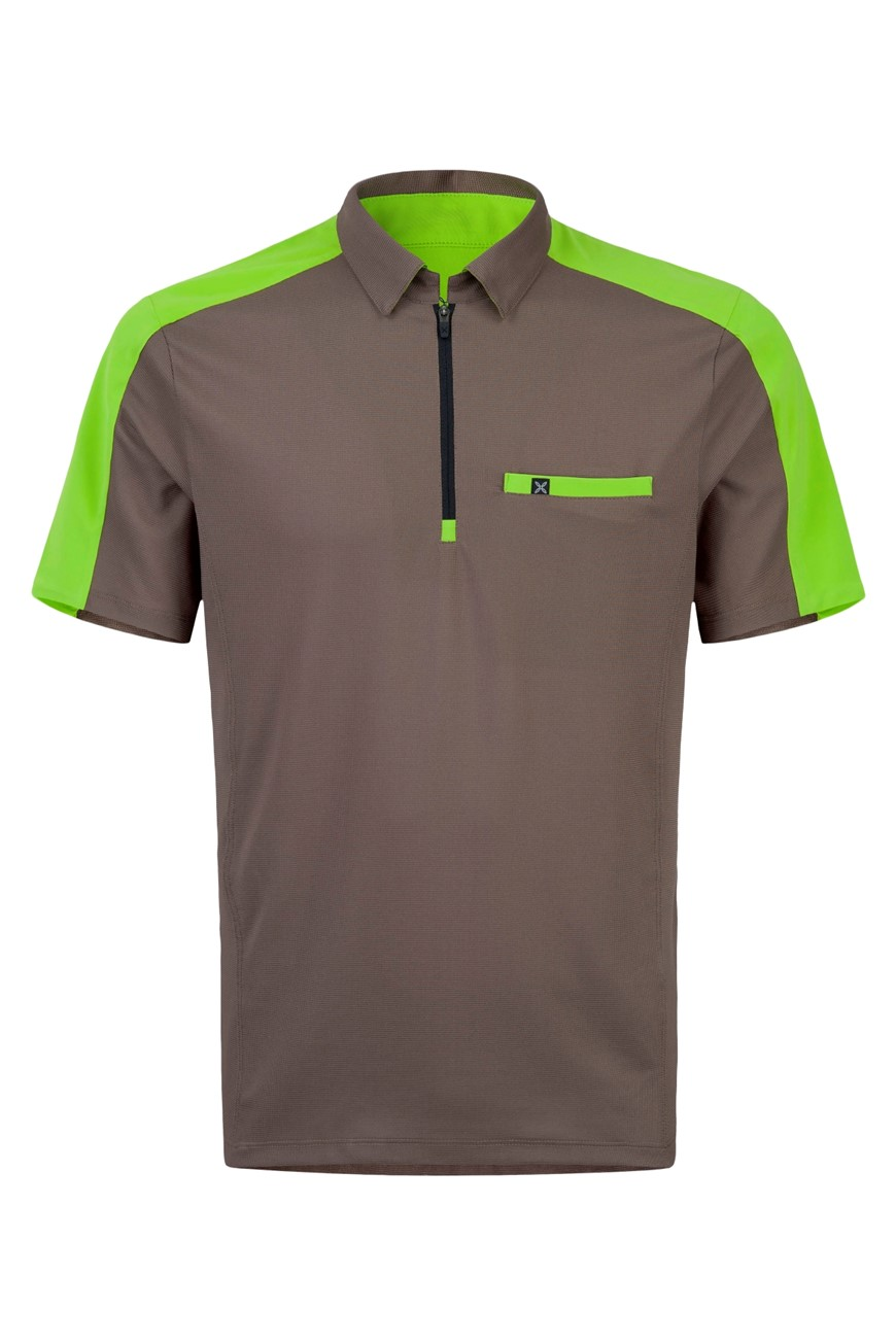 MONTURA OUTDOOR POCKET ZIP POLO